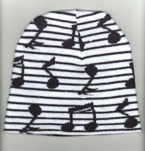 Music Treasures Co. Music Note Beanie Hat (Hat Granny)