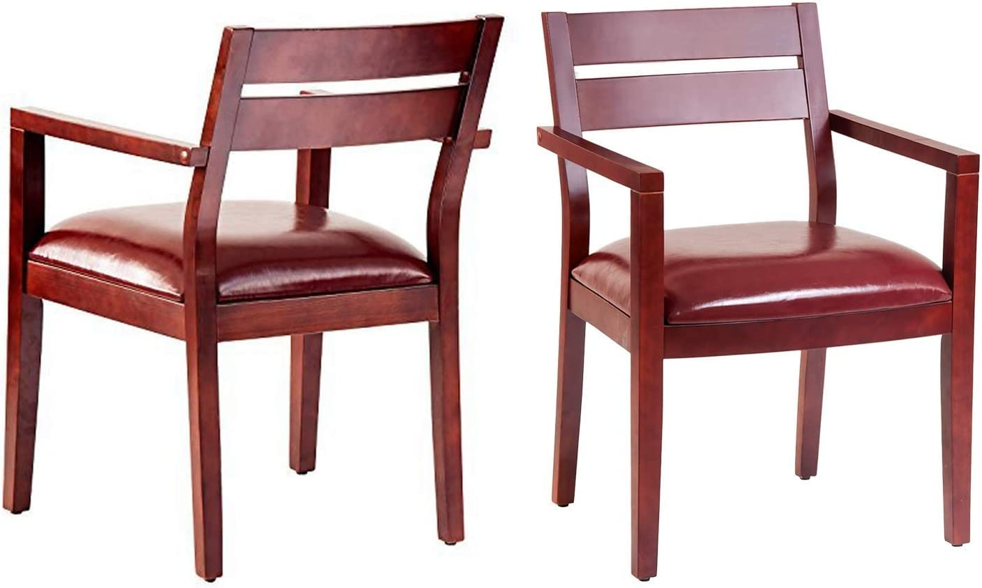 Merax Guest Chair Chair Set of 2 with Armrest, Reception Chairs for Conference Room Waiting Room with Solid Wood Frame