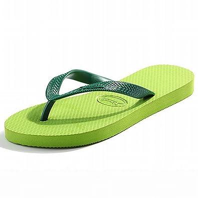 18a0594d6 LUCIYA Women s Summer Sandals Flip Flops Green Slip On Beach Slippers   Amazon.co.uk  Shoes   Bags