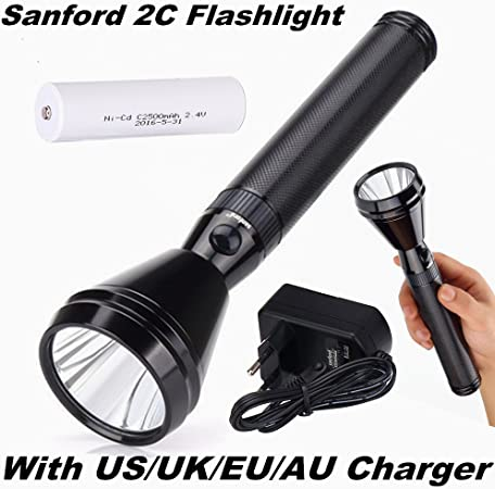 LED Flashlight Charger for Battery Fits Portable Torch Light UK//EU//AU//US Plug