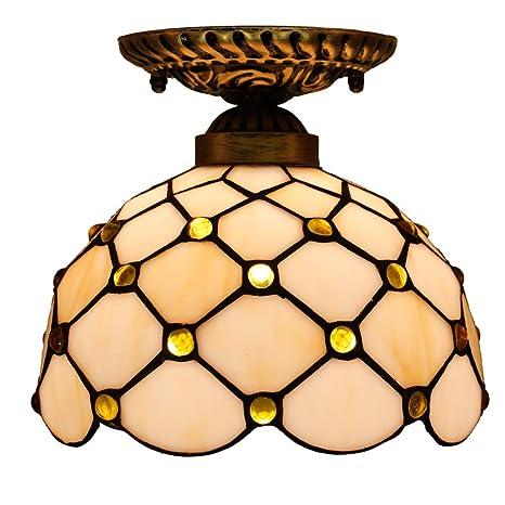 FABAKIRA Iluminación de techo Tiffany Estilo Lámpara Focos ...