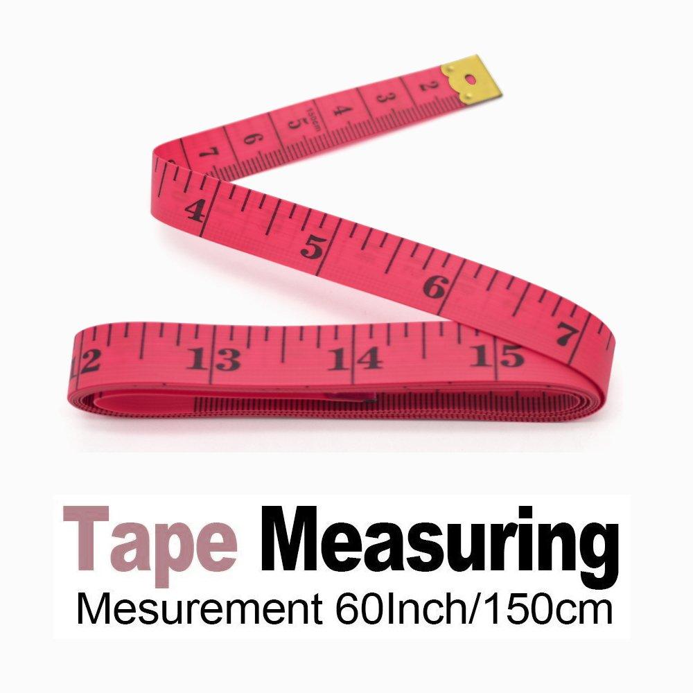Amazon.com: Yojoloin 2PCS 60 inches Double Scale Soft Tape Measure ...