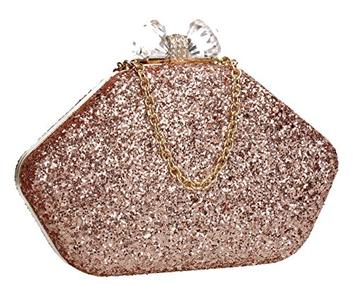 SWANKYSWANS Mariah Shiny Box Party Prom Wedding Night Out Celebrity Ladies Purse Evening Clutch ()