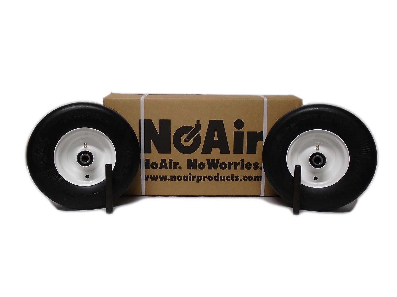 NoAir (2) Exmark Flat Free Wheel Assemblies Fits Lazer Z 13x5.00-6 Part 1-633582 MowerPartsGroup