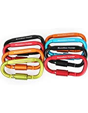 Boundless Voyage 8pcs Outdoor Aluminum D Ring Keychain Camping Carabiners Locking Hook Clip Hanging Buckle