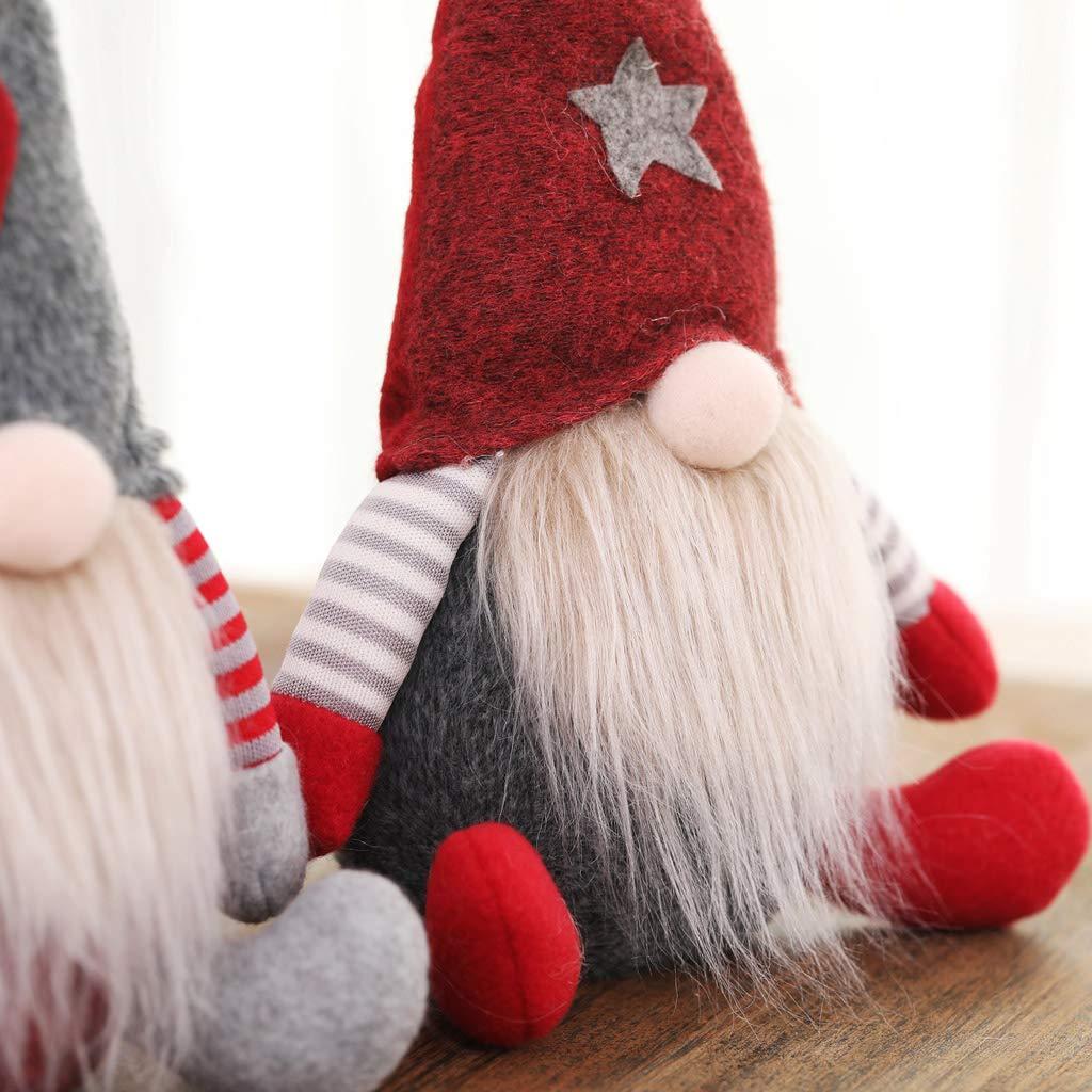 WE-WHLL Navidad Sueco Sueco Gnomo Santa Claus Peluche Mu/ñeca Adornos Adornos Fiesta de Navidad Decoraciones para Fiestas Juguete de Regalo para ni/ños