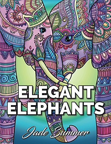 Elegant Elephants: An Adult Coloring Book with Majestic African Elephants and Relaxing Mandala Patterns for Elephant Lovers -