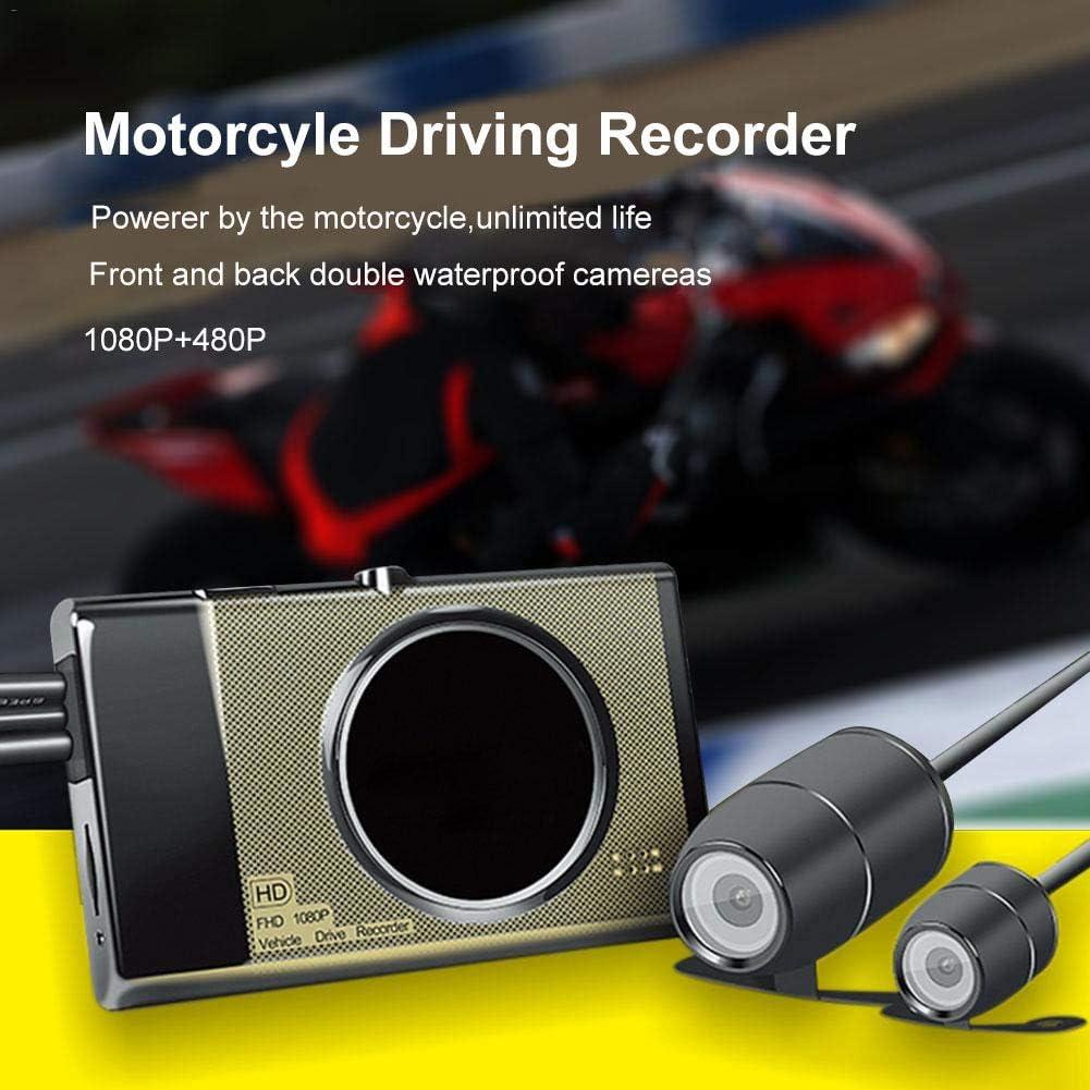 Shentesel 3Inch Motorcycle Recorder Front Back Dual Camera DVR Motor Dash Cam Motorbike
