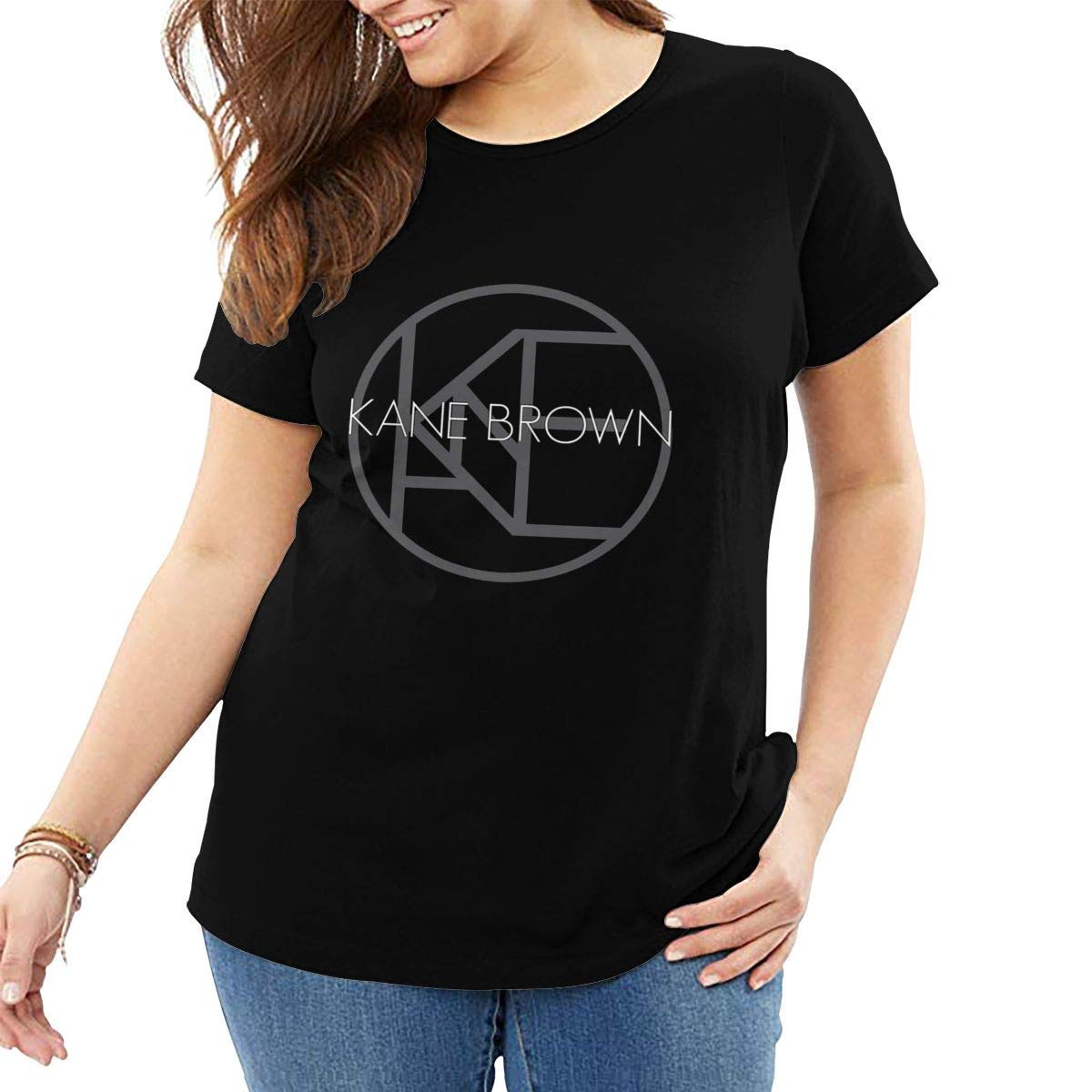 Patricia Fort Short Sleeve Tshirt Loose Kane Brown Logo Black
