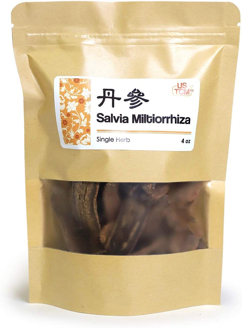 New Packaging Salvia Miltiorrhiza Red Sage Roots Dan Shen Danshen 丹参 4 Oz.