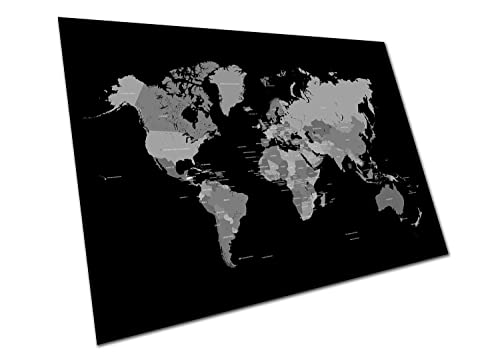Black and white world map unique design poster print traveler eaposter black white world map wall art large a1 poster 33 x 23 inch gumiabroncs Choice Image