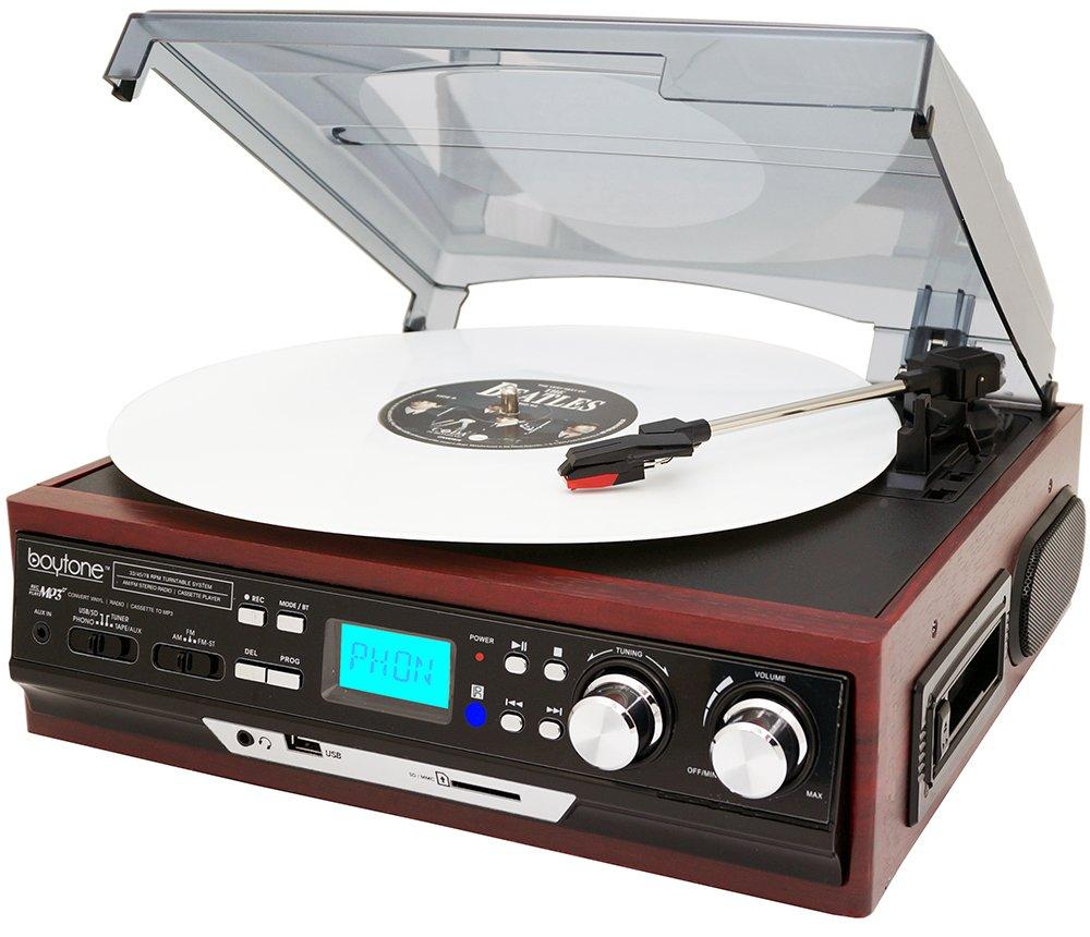 Amazon.com: Boytone BT-37M-C Bluetooth 3-Speed Stereo Turntable ...