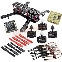 Hobbypower Carbon 250mm Mini Quadcopter With MT2204 2300KV Motor + Simonk 12A ESC + CC3D Flight Control board + 5045 Props for QAV250