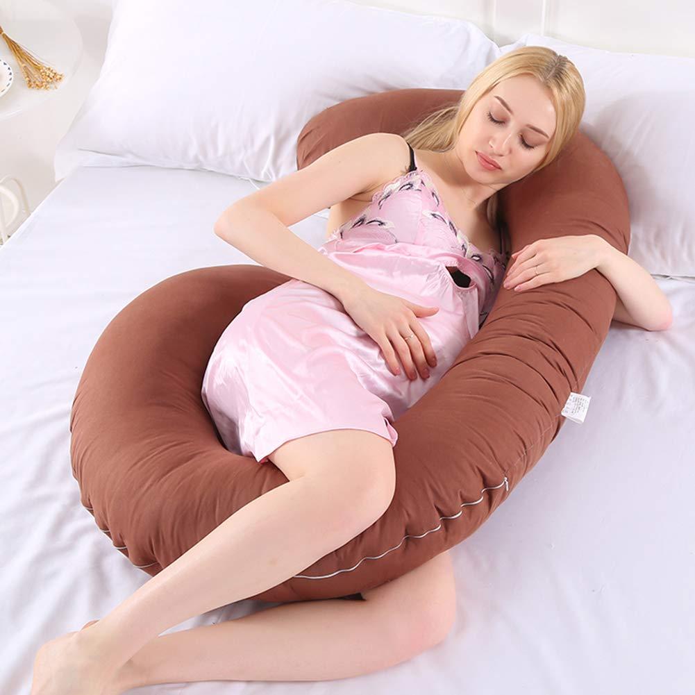 con Funda de Almohada Lavable Almohada de Lactancia para Embarazo Jian Ya Na C-Shape Azul