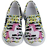 PattyCandy Girls Paint Splash Unicorn Theme Lightweight Slip Ons - US 9C