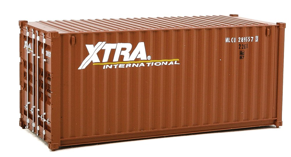 Walthers SceneMaster 20' Corrugated Container Xtra Leasing-Assembled Train Collectable