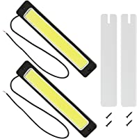 Safego 2Pcs/Set DRL COB LED Conducción Luces Diurna