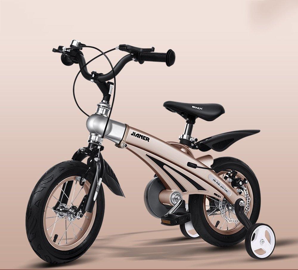 美しい 家子供用自転車、男女用自転車、乳母車、マウンテンバイク、子供用自転車 (色 : ゴールド, サイズ さいず : 85*38*64cm) B07CXYPF7C 85*38*64cm|ゴールド ゴールド 85*38*64cm