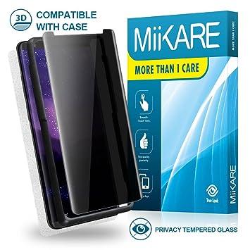 MiiKARE Protector de pantalla para Galaxy Note 8 (incluye protector de pantalla y protector de pantalla para Samsung Galaxy Note 8, cristal templado de ...
