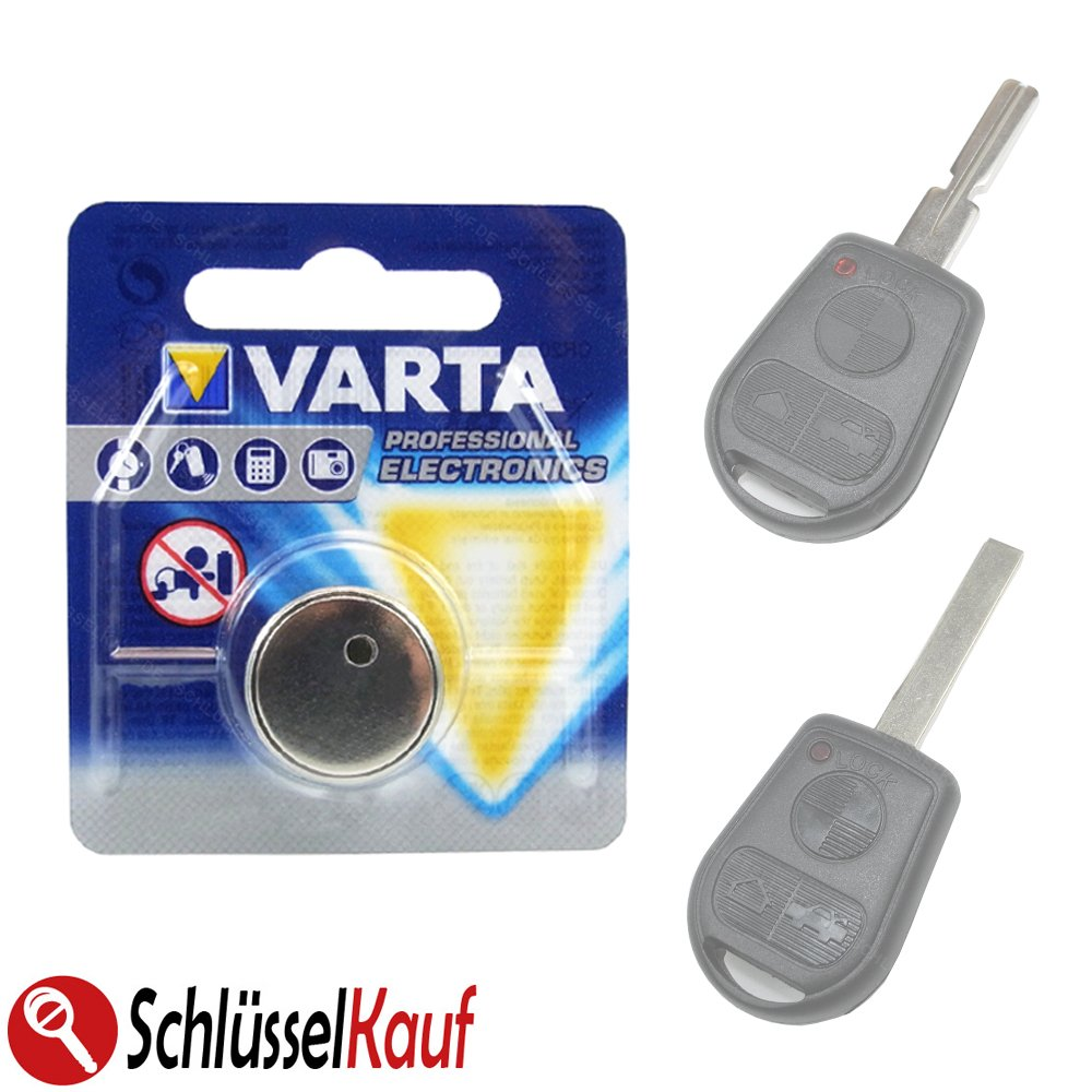 2X VARTA Knopfzellen Schl/üssel Batterie passend f/ür BMW E36 E38 E39 E46 Z3 Autoschl/üssel