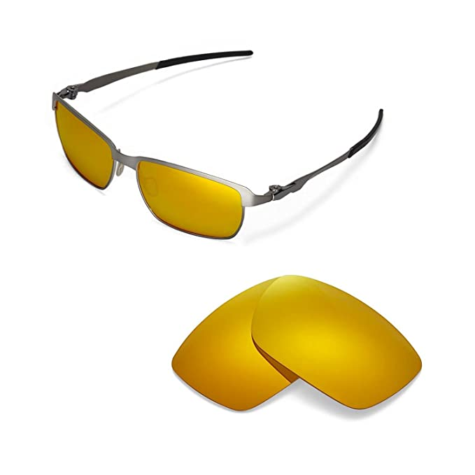 d77743b4728 Walleva Replacement Lenses for Oakley Tinfoil - Multiple Options (24K Gold  Mirror Coated - Polarized
