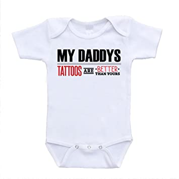 Amazon.com: My Daddy\'s Tattoos Are Better Than Yours Baby Onesies (3 ...