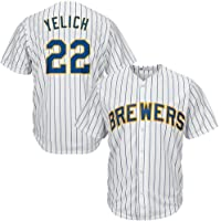 LIANGJK Brewer Milwaukee Brewers 22# Yelich Ropa