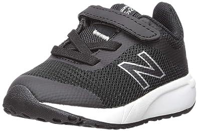 571702bf1451c New Balance Boys' 455v2 Hook and Loop Running Shoe, Black/White, 8 M US  Toddler