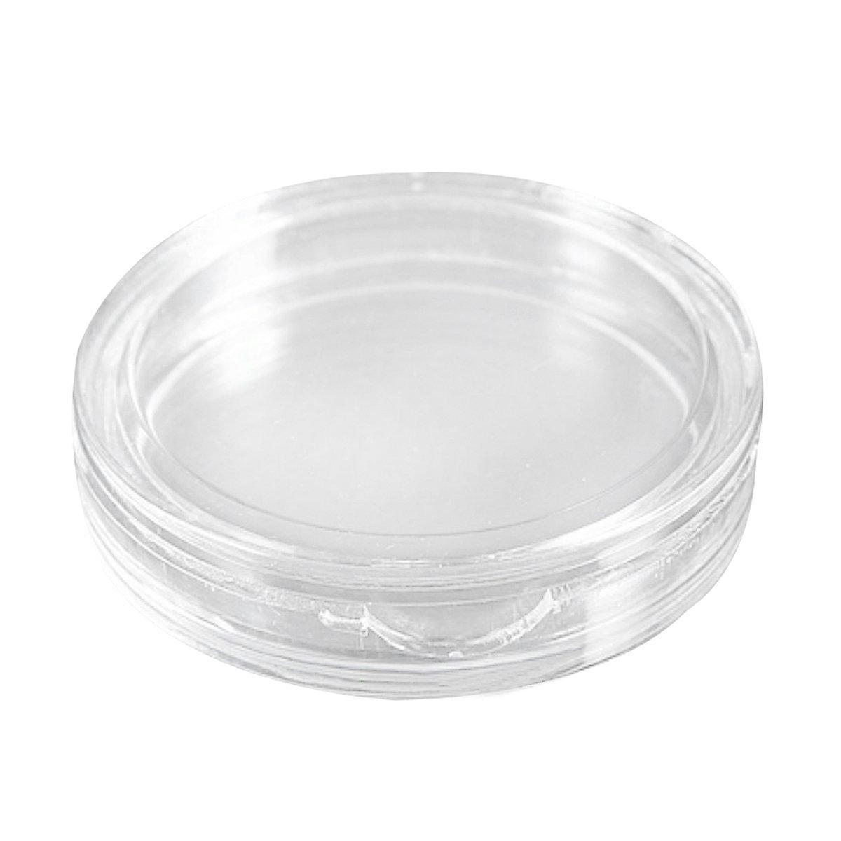 SODIAL(R) 10 pcs Small round transparent plastic coin capsules box 35mm