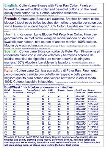 Cuello Blanca Cotton De Pan Lane Peter Blusa Corta Manga wxSqfZ5H