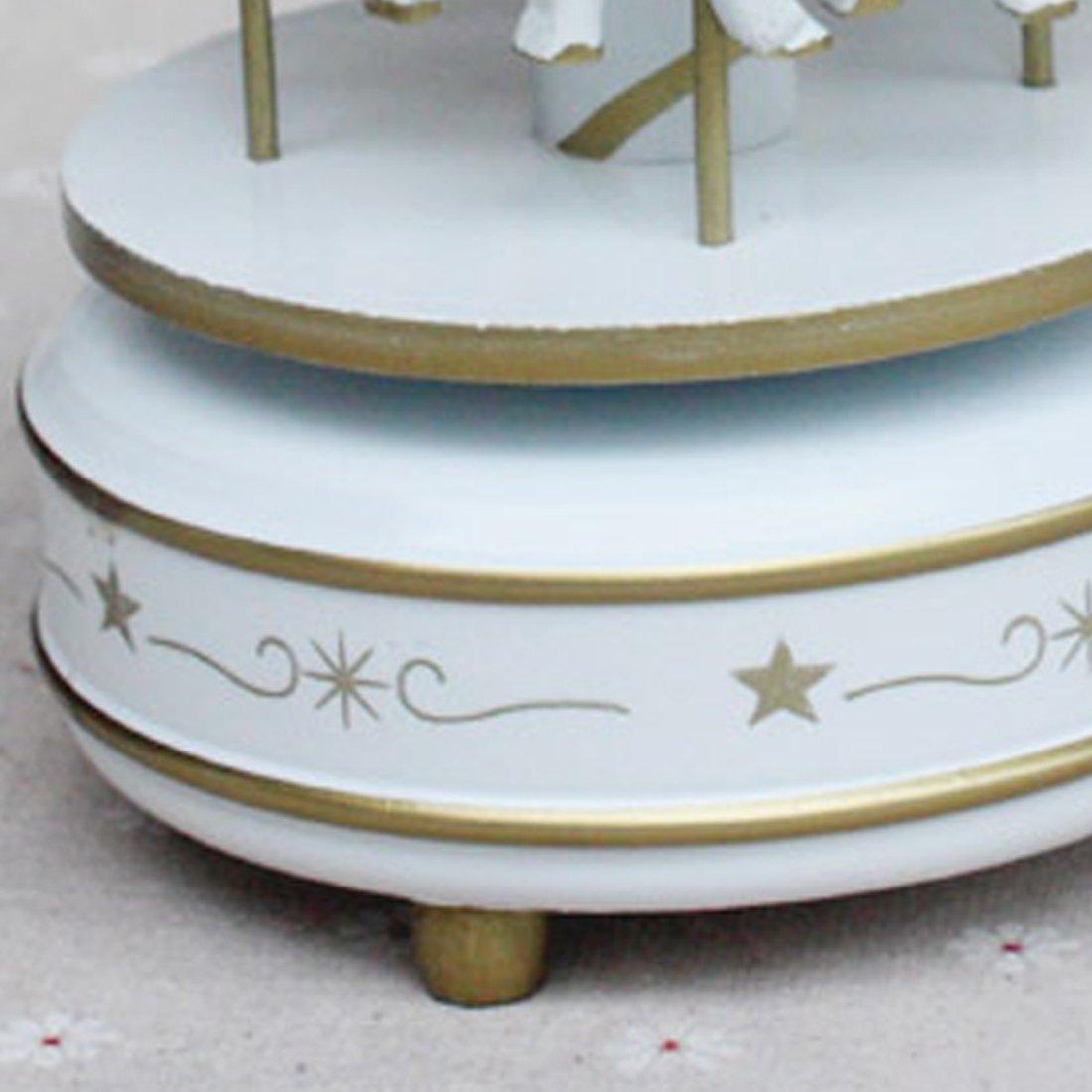 Vintage Holz Karussell Spieluhr Kind Madchen Weihnachten