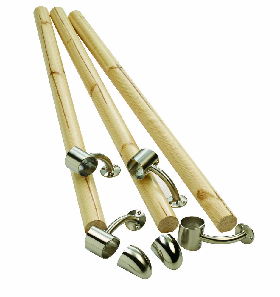 Richard Burbidge KIT01 Fusion Boxed Handrail Kit - Pine/Brushed Nickel