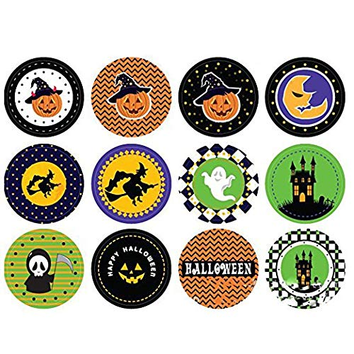 Creative Home Supplies 5 Sheets Halloween Theme DIY Stickers Cartoon Sticker Labels Candy Cake Package Stickers Gift Decor Deserve to Buy ()