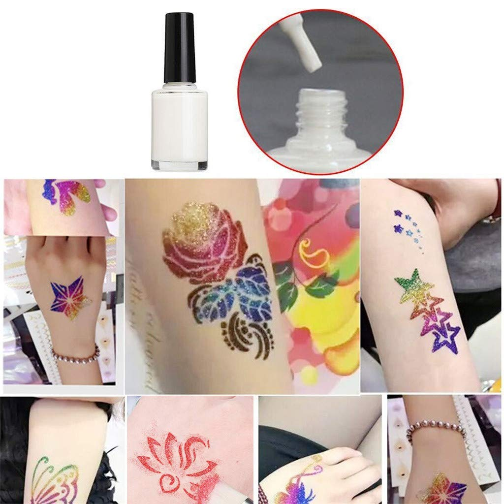 Koojawind Kit De Tatuajes Con Purpurina, Maquillaje Temporal Con ...