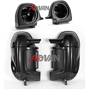 Unpainted/Primed/Paintable Lower Vented Fairings Kit 6.5 inch Speaker Box Pods For Harley Davidson Street Glide 1983-2016
