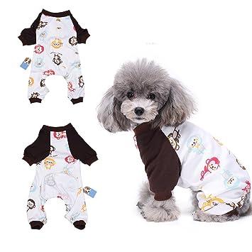 Happy Monkey Pijama para perro, cómodo pijama para cachorro, suave chaqueta para perro,