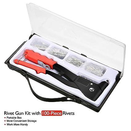 Hand Riveter gun Kit with Multi-sized Blocker Rivet Gun Hand Riveter Tool