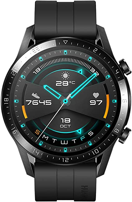 HUAWEI Watch GT 2 (46 mm) Smart Watch, 1.39 Inch AMOLED Display with 3D Glass Screen, 2 Weeks Battery Life, GPS, 15 Sport Modes, 3D Glass Screen,