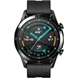 Huawei Watch GT 2 2019 Bluetooth SmartWatch, Longer Lasting 2 Weeks Battery Life, Waterproof, Compatible with iPhone and Android, 46mm No Warranty International Version (Matte Black)