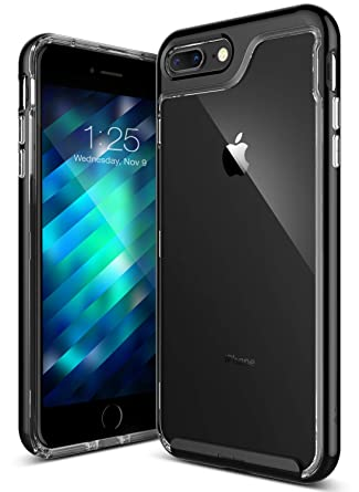 best website 21b7d bfc26 Caseology [Skyfall Series] Transparent Clear Slim Scratch Resistant Cover  Drop Protection for Apple iPhone 7 Plus - iPhone 8 Plus - Jet Black
