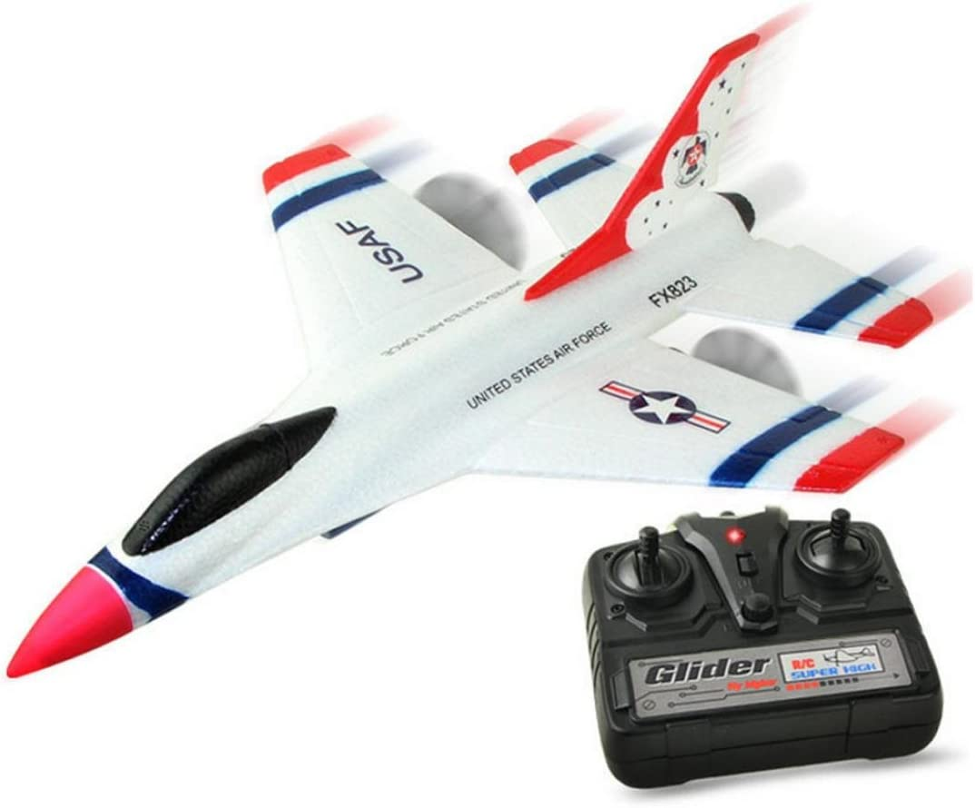 Fineser FX-823 2.4G 2CH RC Airplane Glider Remote Control Plane Outdoor Aircraft (White)