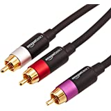 AmazonBasics 1-Male to 2-Male RCA Audio Cable, 8 Feet
