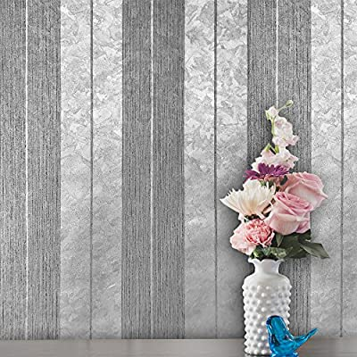 10m Made in Italy Portofino wallcoverings platinum embossed striped Vinyl Non-Woven Wallpaper silver metallic gray stripes modern textured textures European double rolls wallpapers paste the wall only