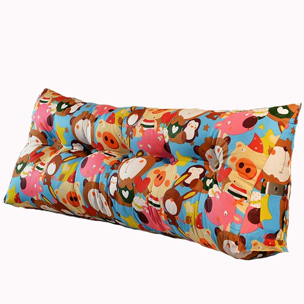ベッド枕 マルチパターン選択ベッドロングピローヘッドボードソフトバッグトライアングルダブル畳布クッションピロー大背もたれ取り外し可能で洗えるサイズ90 cm-200 cmオプション 写真ベッド枕首まくら (色 : R, サイズ さいず : 150cm) B07RWB59P6