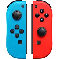 JoyCon Controller Compatible with Switch Joy Cons with Grip Hand,Switch Controllers Supports Wake-up Function (Red and…