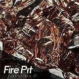 Copper Reflective Fire Glass 1/2'' Firepit Glass Premium 10 Pounds