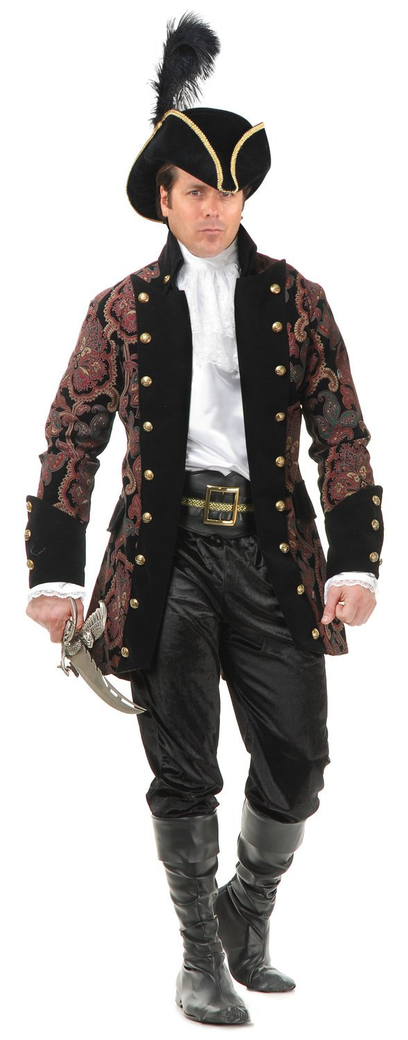 Charades Mens Royal Pirate Rogue Adult Costume As Shown - Medium