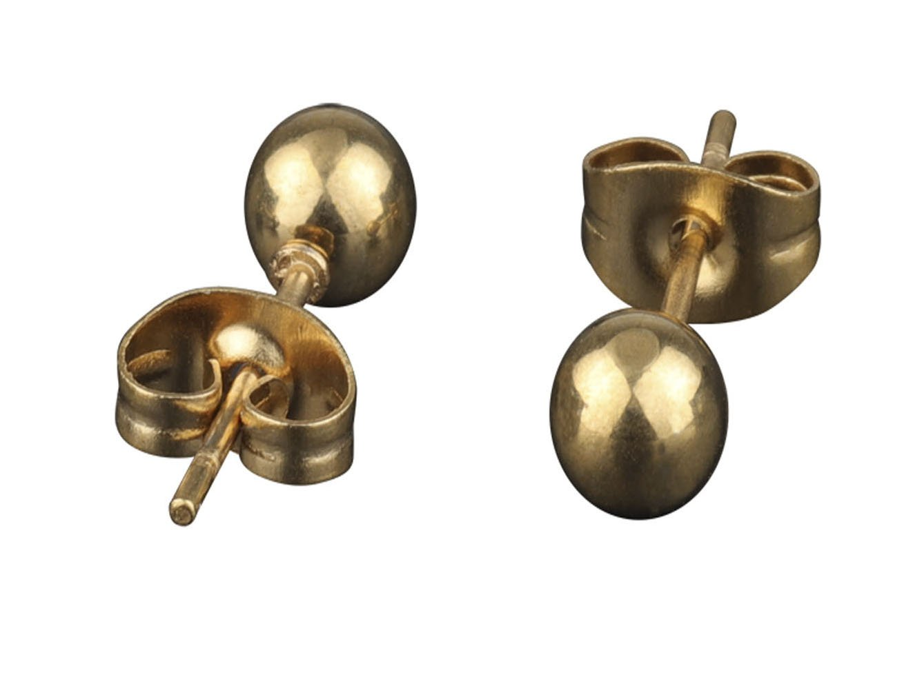 A++ 316L Surgical Stainless Steel Round Ball Studs Earrings 1 Pair gold 4mm Ball