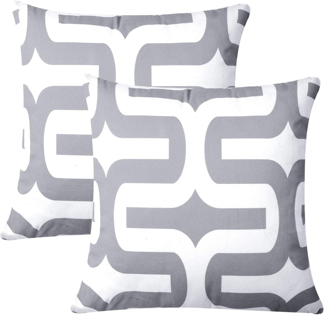 Top Finel Decorative Throw Pillow Covers-Soft Microfiber Outdoor Cushion Covers 18 X 18 for Sofa Bedroom Car, Pack of 2