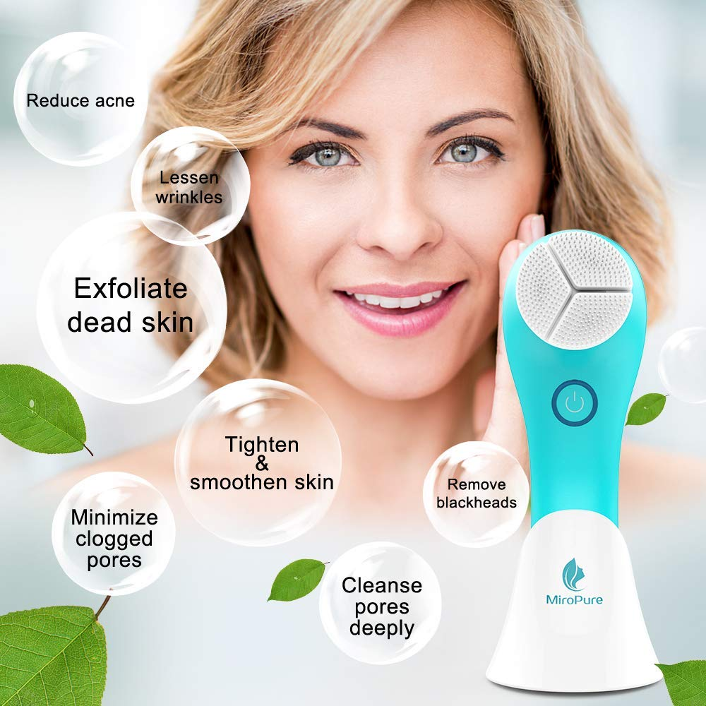 Sonic Rechargeable Facial Brush, Vibration Waterproof 3D Facial Cleansing Brush